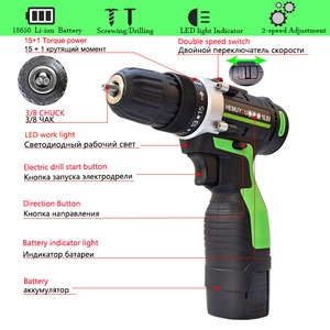 Image 4 - 16.8V Home Cordless Electric Screwdriver Mini Electric Drill Multi Function Lithium Ion Rechargeable 2 Speed H/L Power Tools