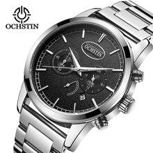 Mens Relógios Top Marca de Luxo OCHSTIN Negócio Da Moda Relógio de Quartzo Dos Homens Sports Data Relógio À Prova D' Água de Aço Cheio Reloj Hombre