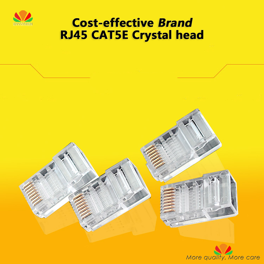 50pcs/lot Brand Cost-effective CAT5E Crystal head gold-plated Original 8P8C RJ45 network plug Ethernet CABLE connector p80 panasonic super high cost complete air cutter torches torch head body straigh machine arc starting 12foot
