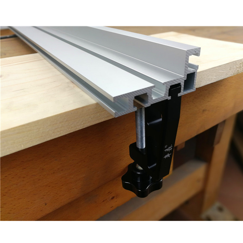 600/800mm Aluminium Profile 75mm Height T-tracks Sliding Brackets And Fixture Woodworking Workbench DIY Tool