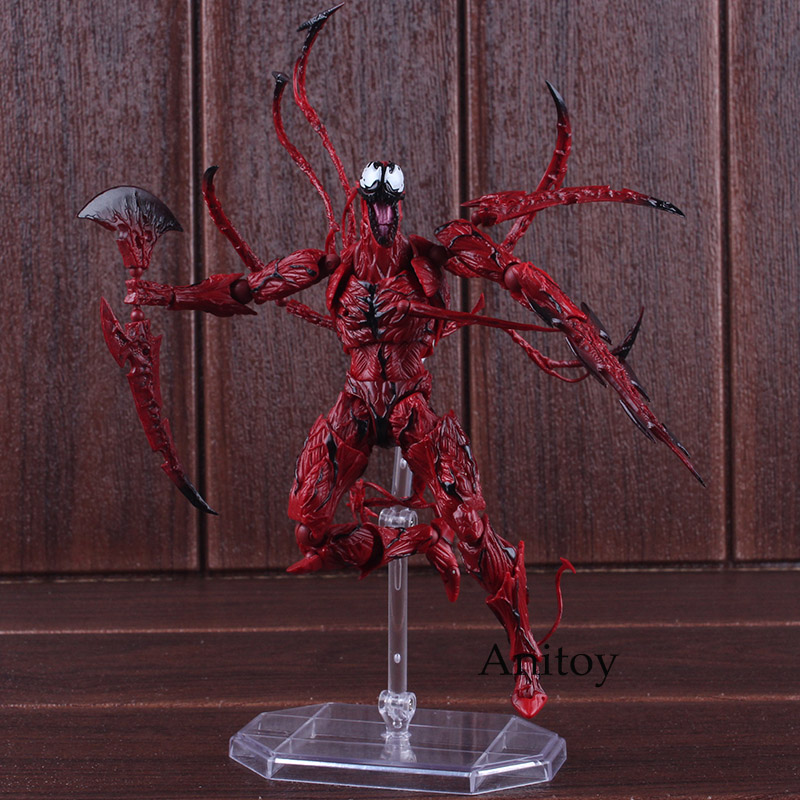 The Amazing Spiderman Carnage Toys Amazing Yamaguchi Revoltech Series NO.008 PVC Carnage Action Figures Collectible Model ToyThe Amazing Spiderman Carnage Toys Amazing Yamaguchi Revoltech Series NO.008 PVC Carnage Action Figures Collectible Model Toy