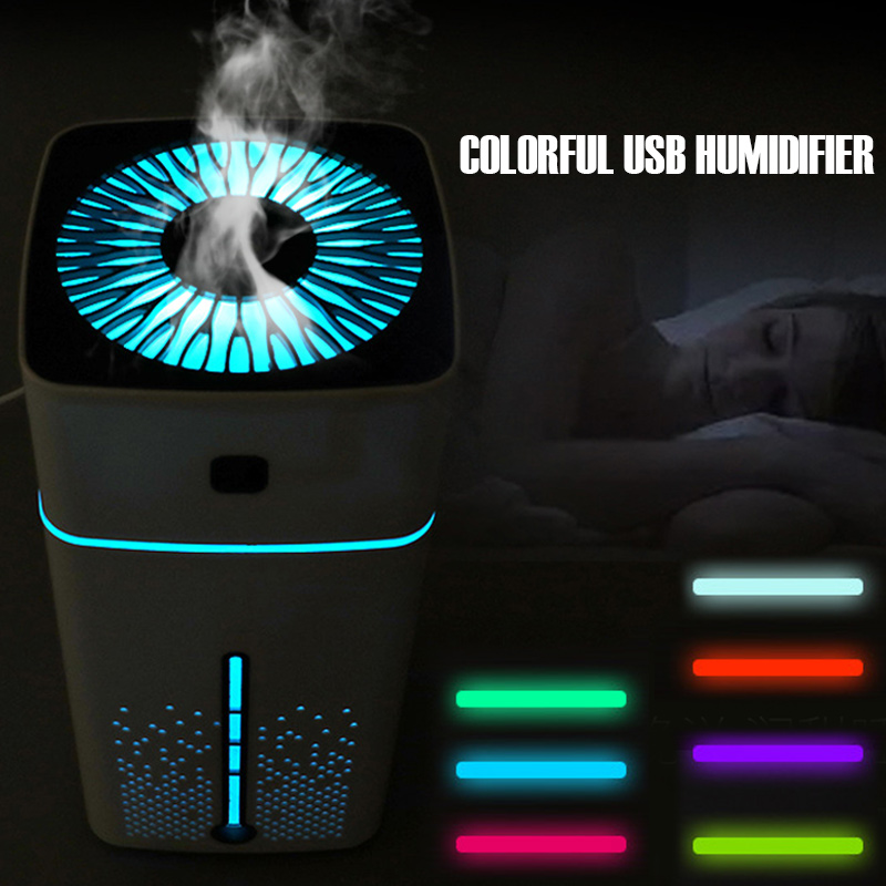 1000ML Air Humidifier Portable Ultrasonic USB Aromatherapy Aroma Essential Oil Diffuser 7 color LED Light lamp Mist Purifier