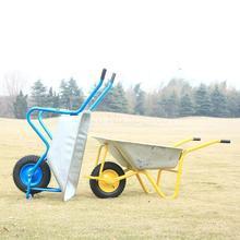Сельскохозяйственная одноколесная коляска, Одноколесный грузовик, толкающий песок, почва, сад, Мусорное строительство, удобрение, площадка, тележка, инструмент