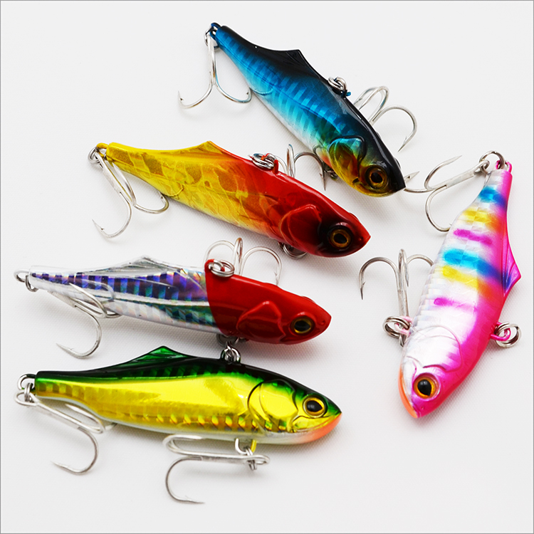 9color 70mm 22g Fishing Lures VIB Metal Hard Baits Artificial Baits Fishing Tackle Free Shiping