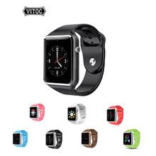 Vitog A1 Wireless Bluetooth Smart Watch High Quality Battery Watches Wristband Support Sim TF Card Camera Mobile Phone Watch(China)