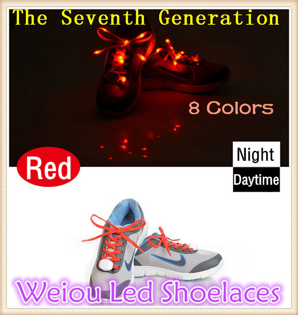 (5 pairs /lot)Hot Weiou Cool Light Up Shoe Laces Glow Stick LED Shoes Shoelaces Dark Wedding Party DISCO For Freeshipping