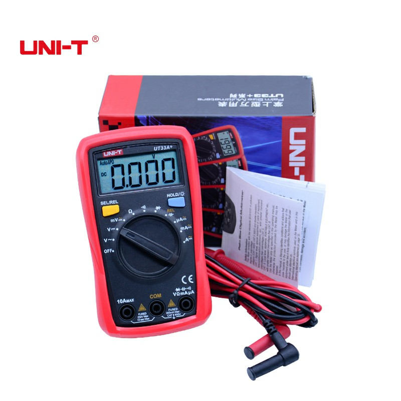 UNI-T New arrival digital Multimeter UT33A+/B+/C+/D+ Handheld Multimeter With Temperature Capacitance NCV battery status tester handheld counts with temperature measurement lcd digital multimeter tester xl830l without battery new ls d tool