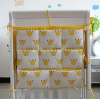 Promotion Kitty Mickey 62 52cm Baby Crib Pocket Storage Bag Baby Dirty Clothes Large Bag