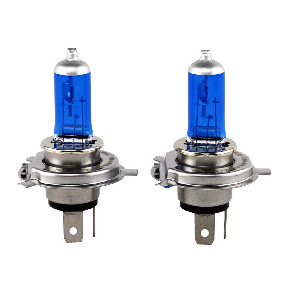 2pcs H4 12V 55W 100W Halogen Bulbs Lights Car Headlights Bright 6000K White Fog Lamp Light Source for Audi,Toyota Super White 2 pcs h7 6000k xenon halogen headlight head light lamp bulbs 55w x2 car lights xenon h7 bulb 100w for audi for bmw for toyota