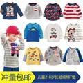 Мальчики с длинными рукавами Футболки НОВЫЙ осенью ребенок девушки специальное предложение детей малышей мультфильм майка Футболка пальто