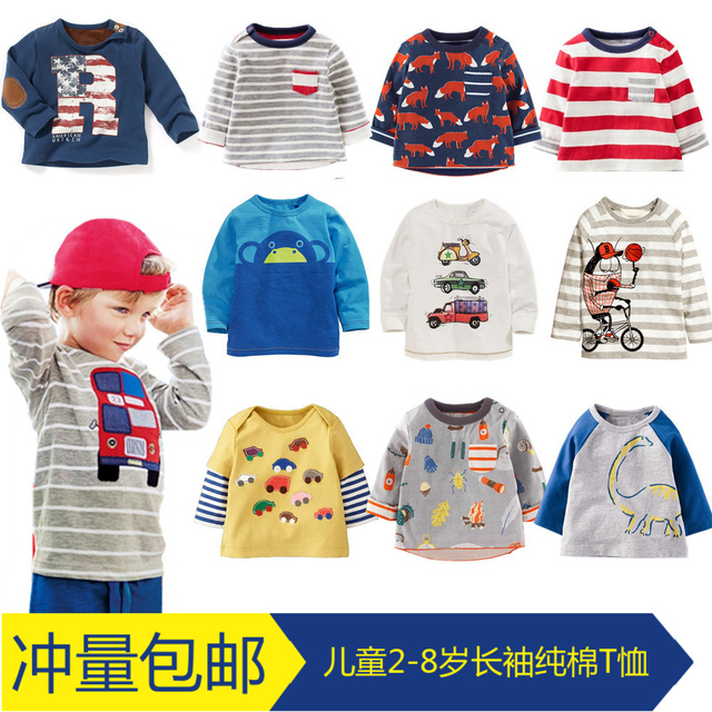 Boys long sleeved T-Shirt NEW autumn baby girls special offer kids children cartoon T shirt T-shirt coat