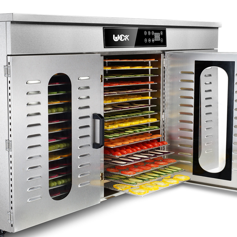 Comercial 48-capa de secador de hogar Comida fruta té de secado secador de aire más grande deshidratador de alimentos aperitivos máquina de secado
