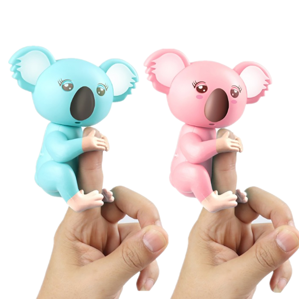 Electronic Fingertip Koala Pack Finger Toys Interactive Baby Pet Intelligence Decompression Smart Toy Like Finger Baby Monkey