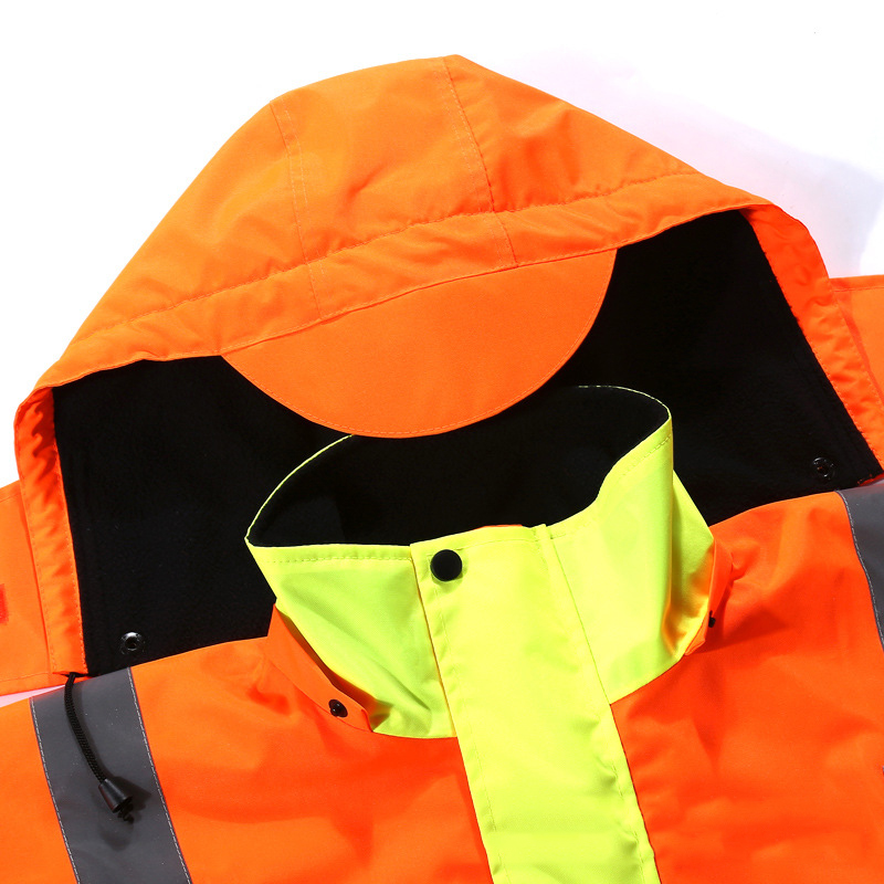 Image 5 - Autumn/Winter Reflective Clothing High Visibility Waterproof Windproof Bomber Jacket Safety Workwear Clothing for Road Traffic-in Safety Clothing from Security & Protection
