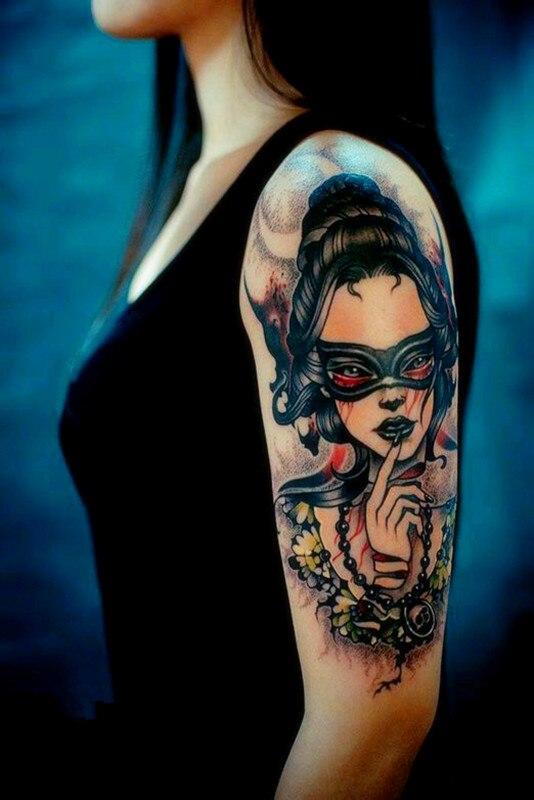 Trendy tattoo stickers bat glasses girl tattoos sexy cover for Bat sleeve tattoo