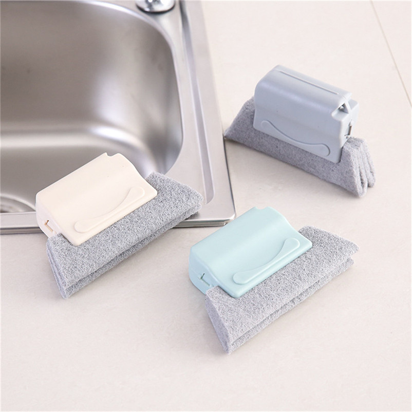 1 PC PP Scouring Pad Window Groove Cleaning Brush Kitchen Door Frame Dust BBQ Oil Cleaner Washable Tools cleaning brush 3D04