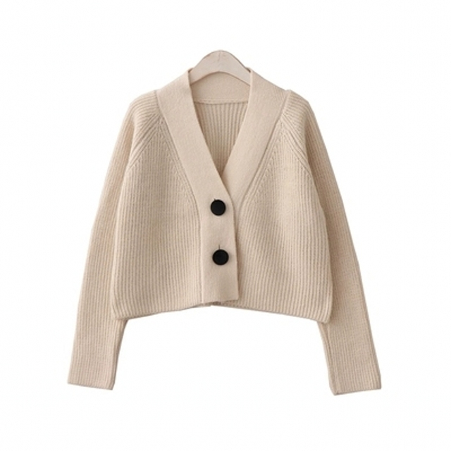 Crop Top Women Sweaters Short Cardigans Sueter Mujer Long Sleeve Single  Breasted Elastic Women Tops Apricot d6775e5ec