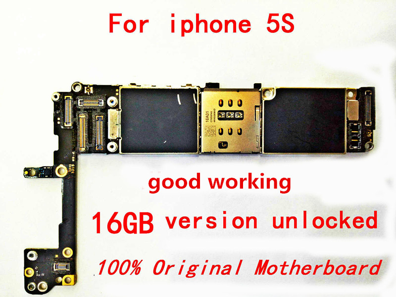 Gift+For100%  original  iphone 5S Mainboard for the Apple iPhone 5s 16gb Without Touch ID and unlocked Logic board +tool(China)