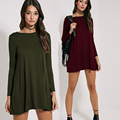 Women Dress Long Sleeve O-neck Dress Sexy Loose Bodycon Dresses 2016 Fashion Sring Summer Style Casual Clothing Vestidos TY3165