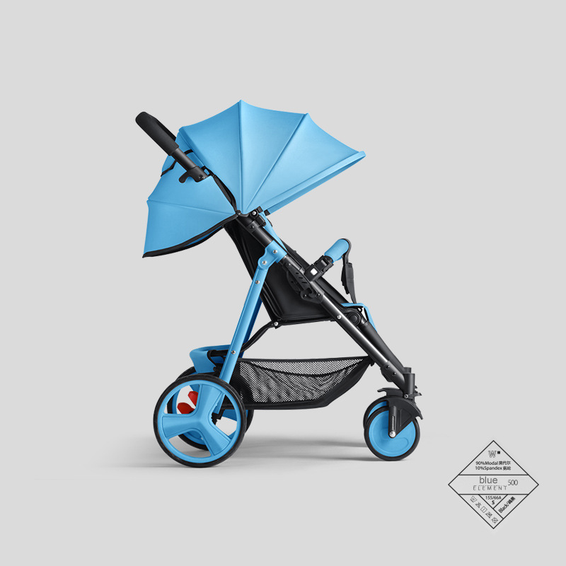 YAOYA PLUS Stroller Can Sit Reclining Simple Mini Stroller Folding Four Seasons Portable Summer Cool Baby Stroller