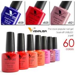 Venalisa nagel gel polnisch 60 farbe hohe qualität produkt nail art weg tränken geruchlos organische uv gel nagellack lack gel lack