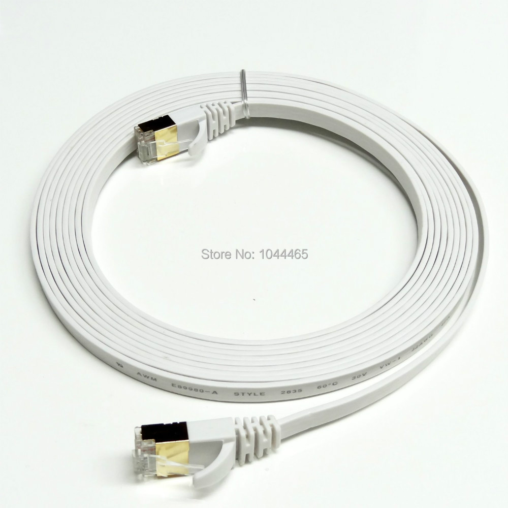 50PCS lot 16 5FT 5M CAT7 RJ45 Patch Ethernet LAN Network Cable For Router Switch gold plated