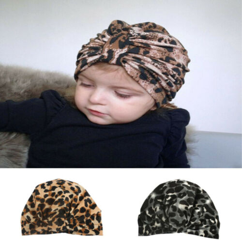 Fashion Kids Girls Baby Toddler Leopard Print Turban Floral Headband Hair Band Accessories Headwear