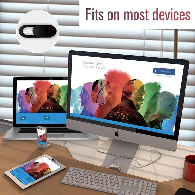 Tongdaytech ウェブカメラカバーシャッターマグネットスライダープラスチックユニバーサル Antispy カメラカバー Ipad 用 PC Macbook プライバシーステッカー