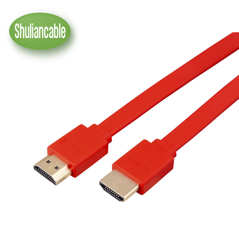 High speed Gold Plated Plug Male-Male flat HDMI Cable 1.4 Version HD 1080P 3D for HDTV XBOX computer cable 1M 2M 3M 5M 7.5M10M цена