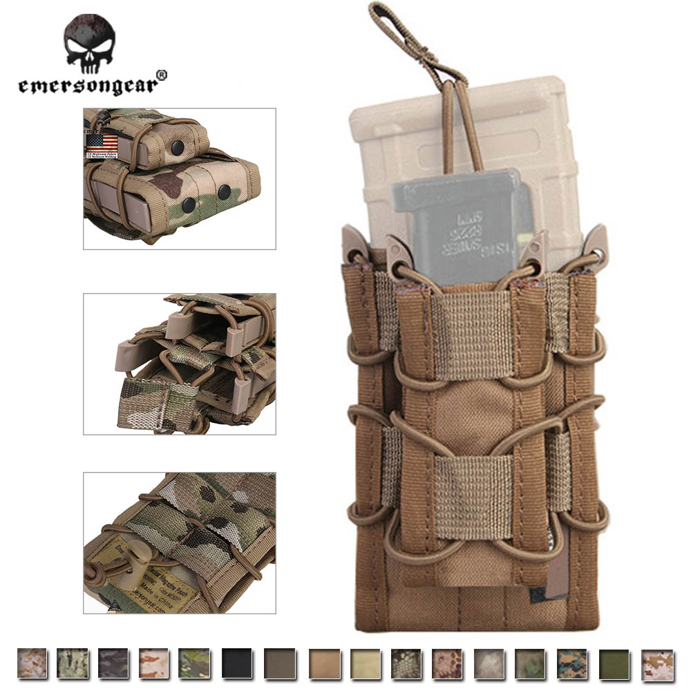 Emersongear Double Decker Magazine Pouch Airsoft Mag Pouches military Emerson Bag MOLLE Camouflage EM6346 camouflage mag holder