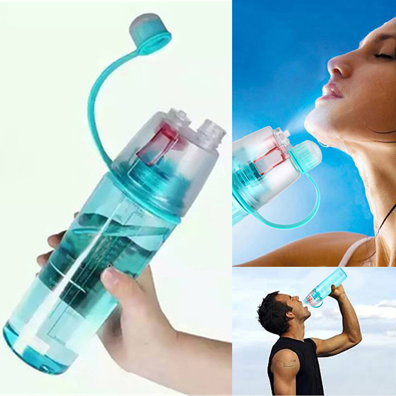 New Sports Spray Water Bottles Dual-use Plastic Bottle for ...