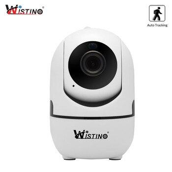 Wistino CCTV bezprzewodowa kamera IP automatyczne śledzenie 720P nadzoru bezpieczeństwa kamera kryty elektroniczna niania Wifi IR Night Vision