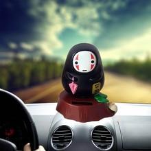 Painel balançando a cabeça da boneca carro ornamentos criativo brinquedo de plástico dos desenhos animados Anime rosto masculino requintado decoração auto acessórios