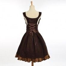 Elegant Gothic Steampunk Dress / Vintage Women Victorian Period