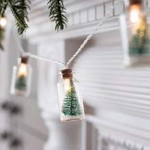 Christmas Lamp Glass Bottle Light String Shop Window Led Copper Wire Holiday  Home Decoration