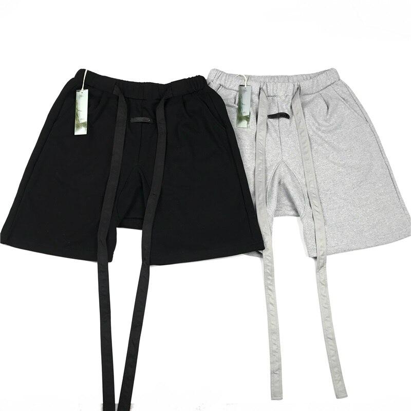 Surlong ceinture été coton lourd Sweat Short ample coupe Harem Joggers court Streetwear
