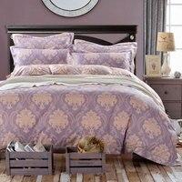 4-6 kg bed cover/sprei/dekbed 100% katoenen beddengoed sets luxe laken gift volwassen beddengoed set queen/kingsize 4 stks