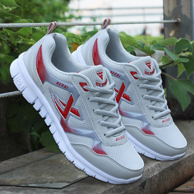 New Arrival Men Shoes Adult Light Men Sneakers 4 Color Breathable Casual Shoes  outdoor walking