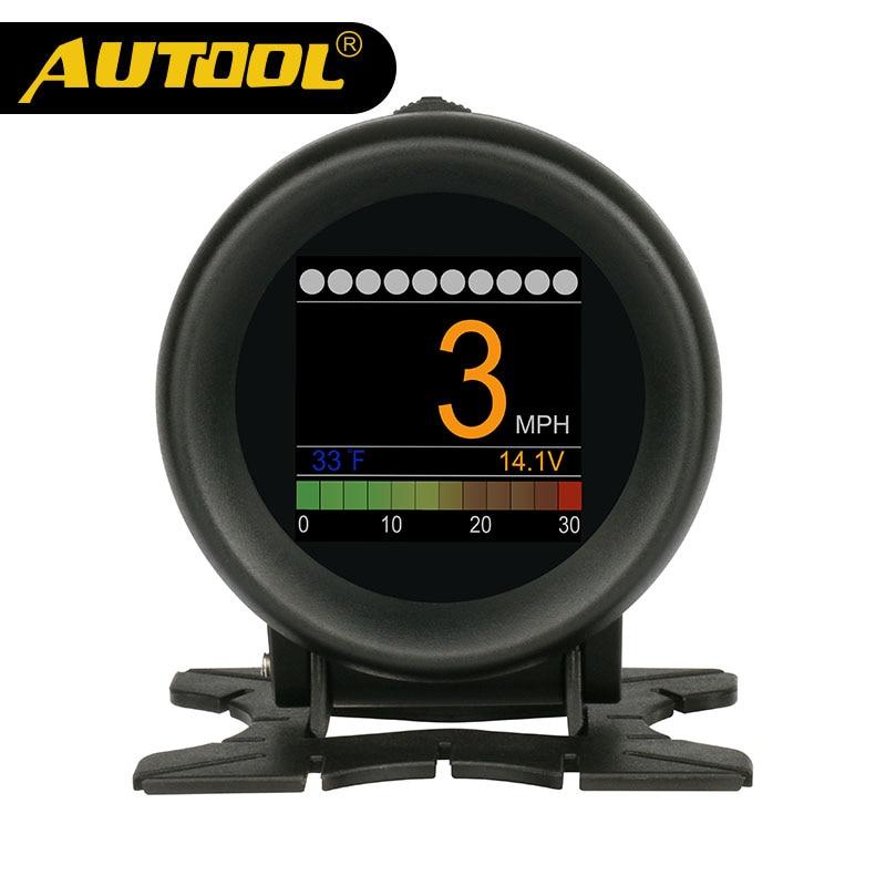Autool X60 OBD meter OBD 2 HUD digital medidor de temperatura digital voltaje velocidad metros medidor agua alarma