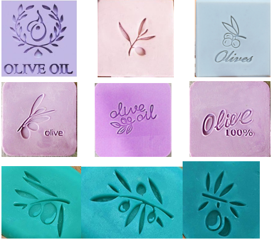 Olive Pattern Handmade Soap Stamp  Clear Diy Natural Acrylic Organic Decorative Soap Making Custom Printing