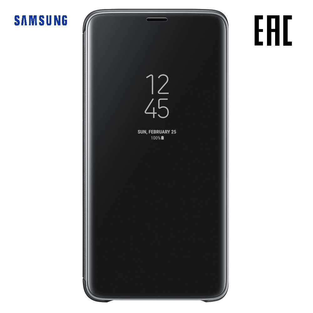 Case for Samsung Clear View Standing Cover Galaxy S9+ EF-ZG965C Phones Telecommunications Mobile Phone Accessories mi_1000005476 case for samsung silicone cover galaxy s9 ef pg960t phones telecommunications mobile phone accessories mi 1000005534533