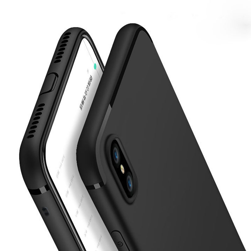New Luxury Slim Silicon Capa For iPhone XS Max XR 5 5S SE Cover Black Soft Matte TPU Phone Case for iPhone 7 8 6 6S Plus X XS S