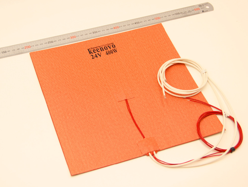 300mm X 300mm 400W 24V KEENOVO Silicone Heater 3D Printer Build Plate Heating Element HeatedBed Pad