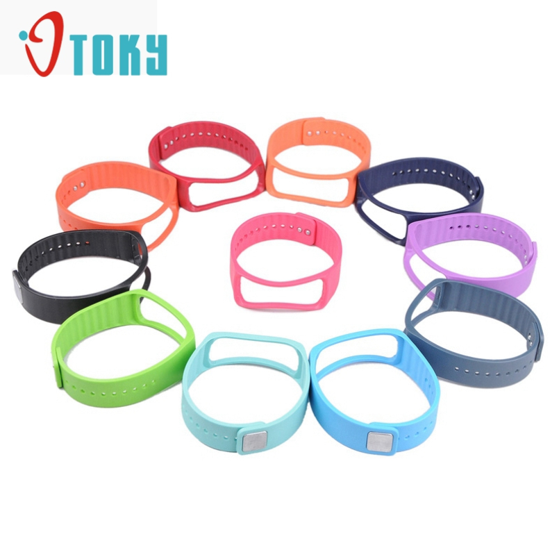 Excellent Quality New TPU Replacement Bangle Strap Bands for Samsung Galaxy Gear Fit Smart Watch Wrist Bands 10 colors