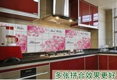 2PC Switch stickers 60* 90* waterproof oil extra large hood kitchen cabinet high temperature resistance
