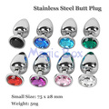 Small Metal Butt Plug 75x28mm Anal Plug Stainless Steel+Crystal Jewelry Anal Toys Adult Sex Toys for Men and Woman Sex Products