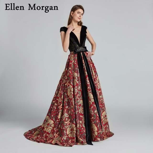 d1e947ec3ee1e Pattern Beautiful Evening Dresses 2019 Robe De Soiree Saudi Arabian Dubai  Caftan Lace up Sexy Elegant Formal Prom Party Gowns