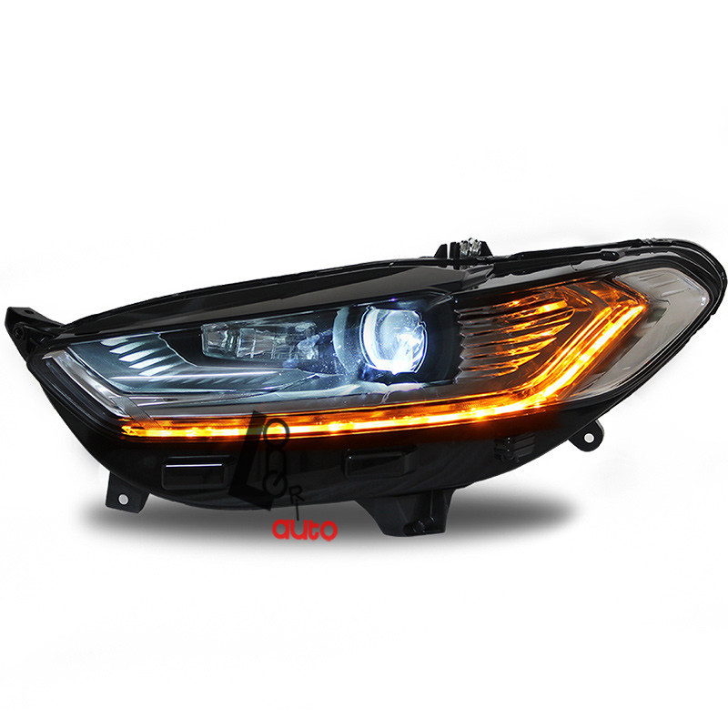 car styling Bi-Xenon Projector Headlights With LED DRL For Ford Mondeo Fusion 2014-2015 head lamp
