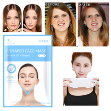 1Pcs Hydrating Mask with Hanging Ear Type Lift Firming V Face Mask Lift Up Face Line Skin Care Mask Bands Reduce Double Chin