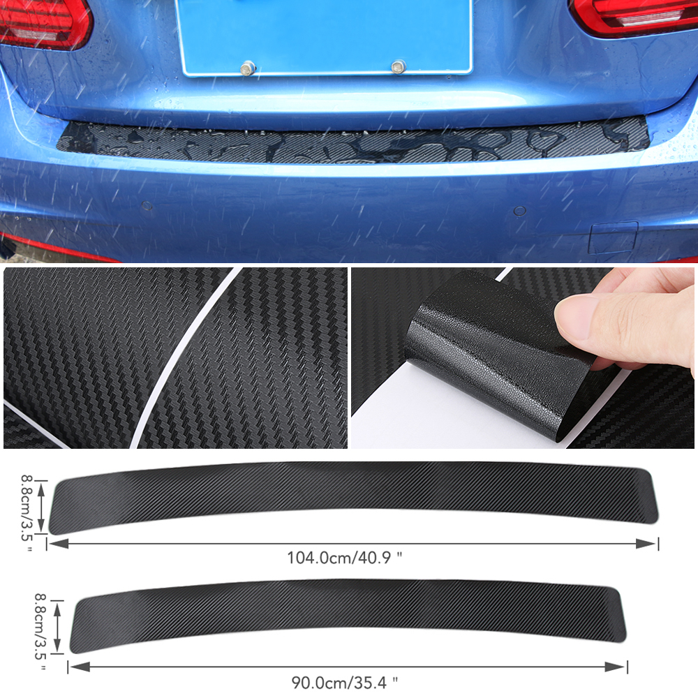 """35/"""" x 3/"""" Gray Rear Bumper Rubber Guard Cover Sill Plate Protector For Mini Rover"""